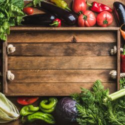 Fresh raw ingredients for healthy cooking or salad making with